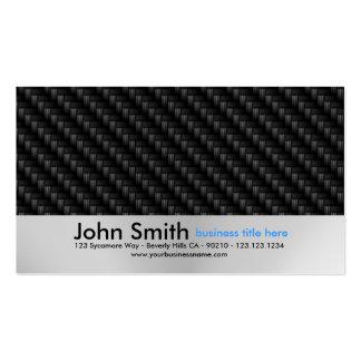 Water Droplets Brushed Metal Design business card
