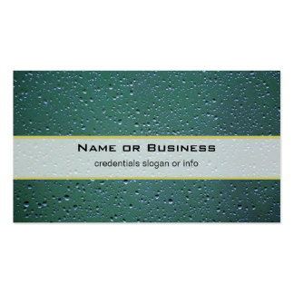 Water Droplets on a Green Background Business Card