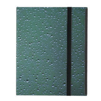Water Droplets on a Green Background iPad Cover