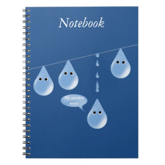 Water Droplets on a Line Notebook