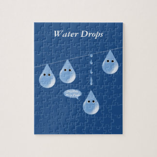 Water Droplets on a Line Puzzle