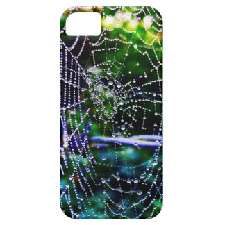 Water Droplets on Spiders web iPhone 5 Cases