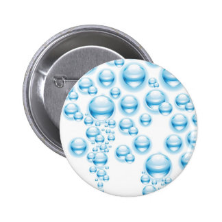 Water droplets pinback buttons