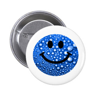 Water droplets smiley buttons