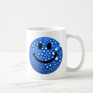 Water droplets smiley basic white mug