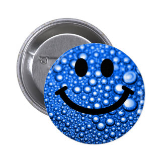Water droplets smiley button
