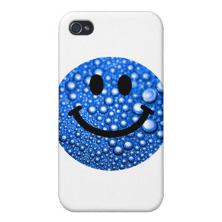 Water droplets smiley cover for iPhone 4