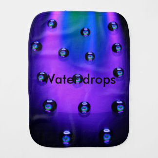 Water Drops Burp Cloth
