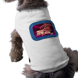 Water Drops Frame Sleeveless Dog Shirt