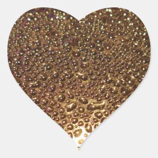 Water Drops Heart Sticker