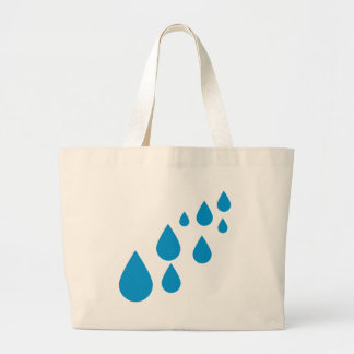 Water drops large tote bag