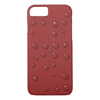 Water drops on amaranth red sand iPhone 8/7 case