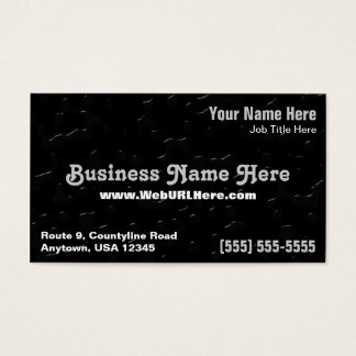 Water Drops on Black Background Business Card