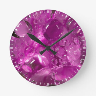 Water drops on flower, California Round Clock