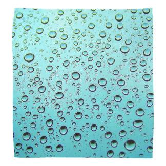 Water drops on window bandana