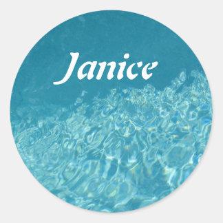 Water Effect Classic Round Sticker