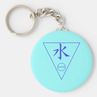 Water Element Basic Round Button Key Ring
