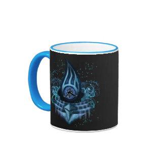 Water Element Kanji Illustration Art Mug
