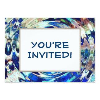 WATER Element Ripple Pattern 13 Cm X 18 Cm Invitation Card