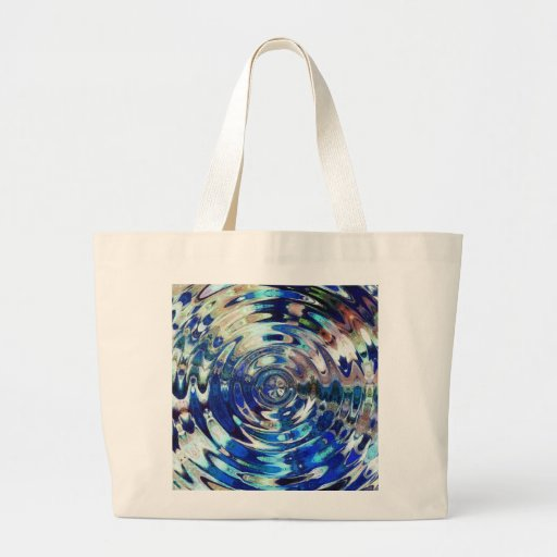 WATER Element Ripple Pattern Tote Bags