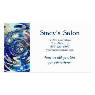 WATER Element Ripple Pattern Double-Sided Standard Business Cards (Pack Of 100)