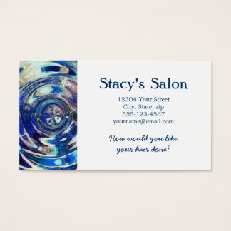 WATER Element Ripple Pattern Business Card