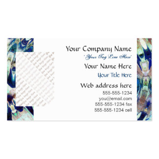 WATER Element Ripple Pattern Business Card Template