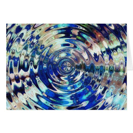 WATER Element Ripple Pattern Greeting Cards
