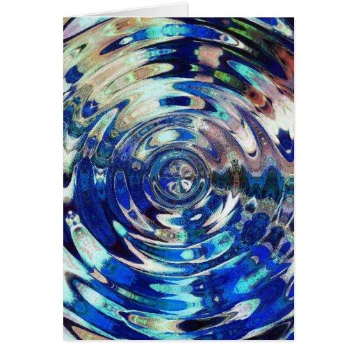 WATER Element Ripple Pattern Greeting Card