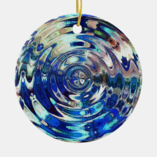 WATER Element Ripple Pattern Christmas Ornament