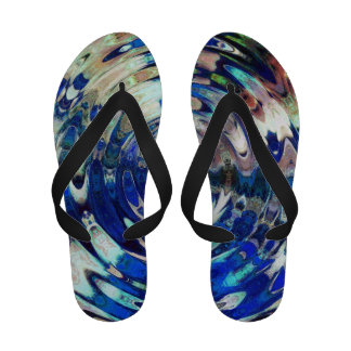 WATER Element Ripple Pattern Sandals
