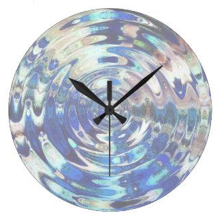 WATER Element Ripple Pattern Large Clock