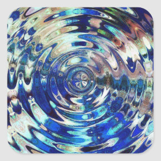 WATER Element Ripple Pattern Square Sticker