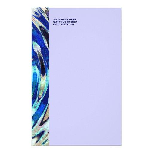 WATER Element Ripple Pattern Stationery Design