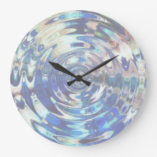 WATER Element Ripple Pattern Wallclock