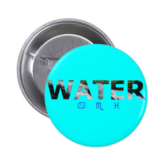 Water Element with Zodiac Signs Pin