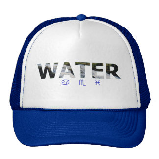 Water Element with Zodiac Signs Hats