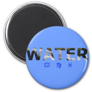 Water Element with Zodiac Signs Fridge Magnet