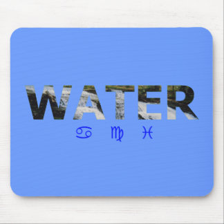Water Element with Zodiac Signs Mousepad