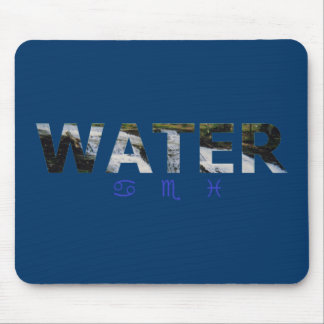 Water Element with Zodiac Signs Mouse Pad