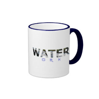 Water Element with Zodiac Signs Mugs