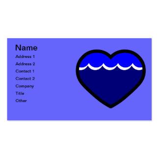Water Elemental Heart Business Card Template