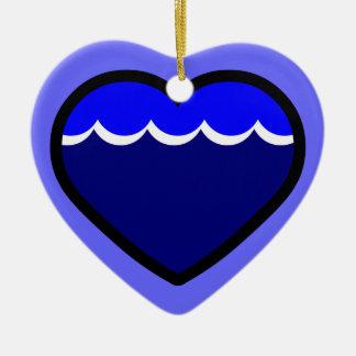 Water Elemental Heart Ornaments