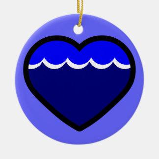 Water Elemental Heart Ornament