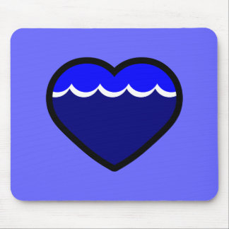 Water Elemental Heart Mouse Pad