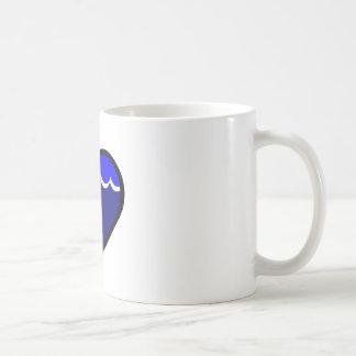 Water Elemental Heart Coffee Mugs