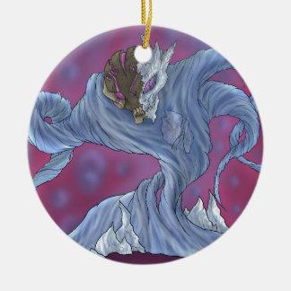 Water Elemental Round Ceramic Decoration