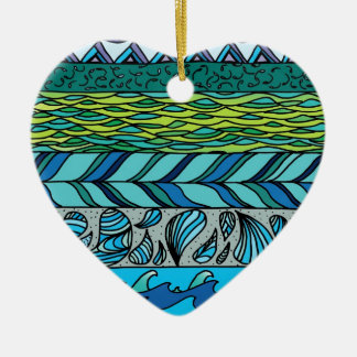 Water Elements Ceramic Heart Decoration