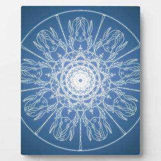 Water Elf Fairy Pentagram Wicca Pagan Spiral Snow Plaque