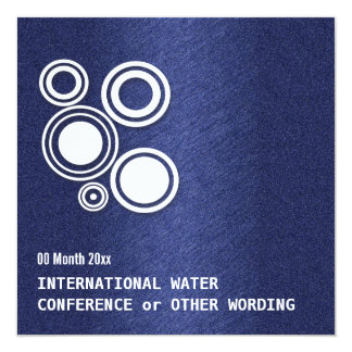 Water energy business conference 13 cm x 13 cm square invitation card